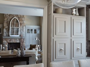Custom Family Room Built In Cabinets