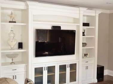 Custom Painted Entertainment Wall Unit