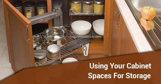 Using Your Cabinet Spaces For Storage